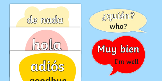 Spanish Word Posters - MFL, Spanish, Modern Foreign Languages, basic phrases in Spanish, foundation, languages, display