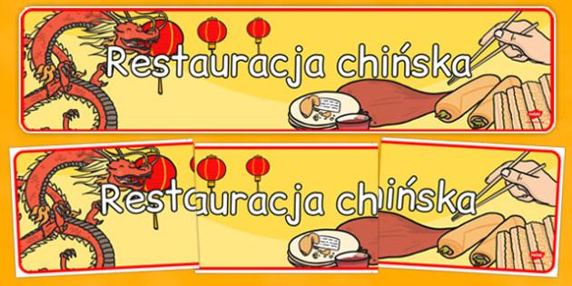 Banner na gazetkę Restauracja chińska po polsku - Chiny, Rok