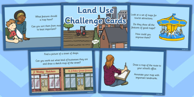Land Use Challenge Cards - land use, challenge cards, challenge