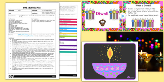 ICT Diva Lamp Painting EYFS Adult Input Plan and Resource Pack - diva lamp, painting, pack
