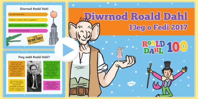 Pŵerbwynt Diwrnod Roald Dahl 2017 PowerPoint-Welsh, dydd , ddydd, ddiwrnod