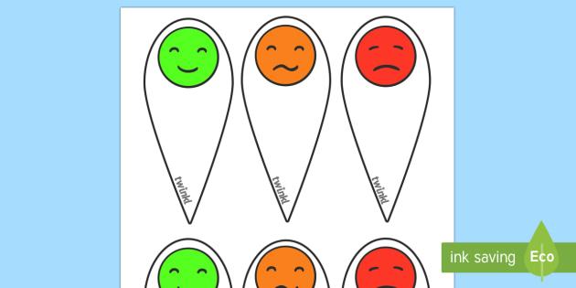 Emotion fans - Communication, communication cards, traffic lights, foundation, autism, SEN
