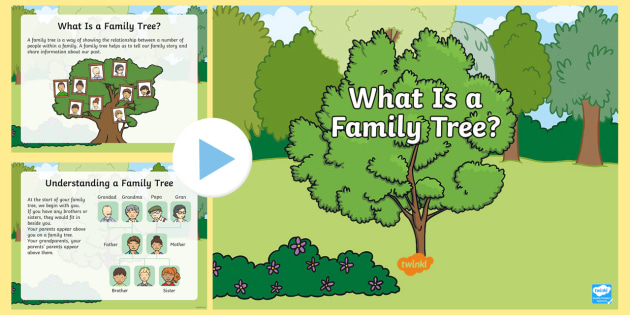 new what is a family tree powerpoint parents siblings