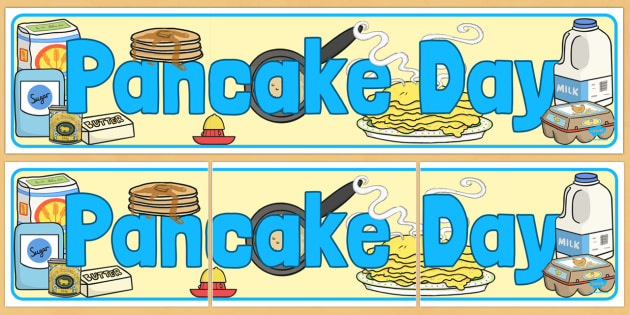 Pancake Day Display Banner - australia, pancake, display, banner