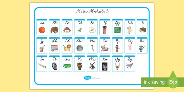 Mein Alphabet: Klein und Großbuchstaben Wortschatzsammlung: