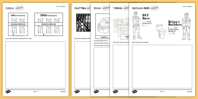 Student Led Practice Sheet Budget at Home Best Buys GCSE Grades 3-4 - KS3, KS4, GCSE, Maths, Finance, Budget, Home, independent learning, growth mindset, practise, assessment