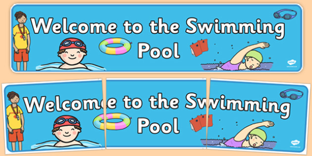 Welcome to the Swimming Pool Display Banner - welcome, swimming pool, display, banner