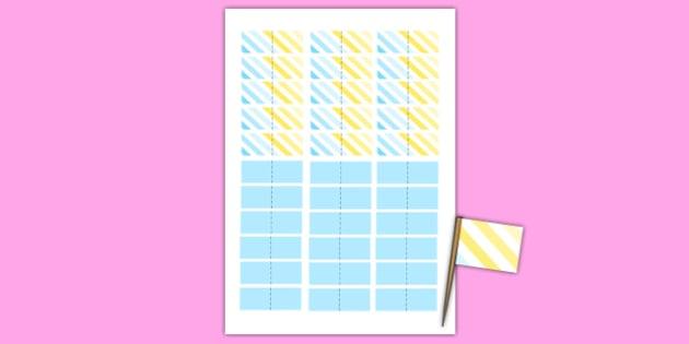 Christening Toothpick Flags - christening, toothpick, flags, toothpick flags, new parents