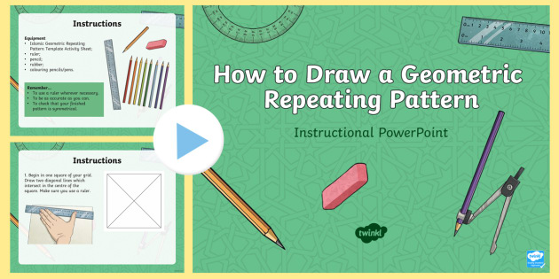 How to draw an islamic geometric repeating pattern instructional how to draw an islamic geometric repeating pattern instructional powerpoint islamic patterns islamic art ccuart Images