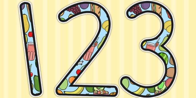 Healthy Eating Display Numbers - health, healthy, food, display