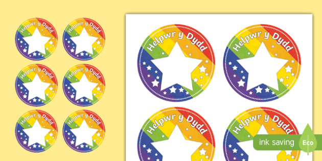 Helpwr y Dydd Star Badges