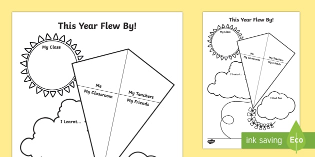 End of Year Kite Themed Activity Sheet - End of Year, last day, end of year worksheet, kite worksheet, last day worksheet, last day, wokrshee