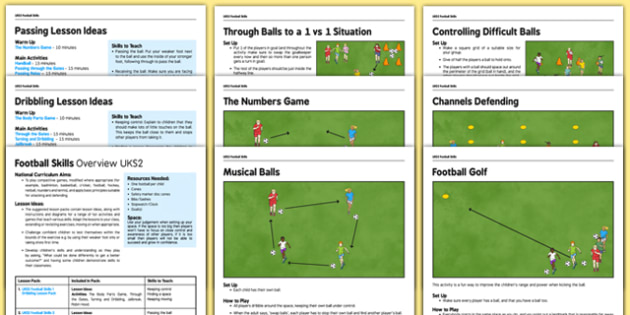 UKS2 Football Skills - football, PE, sport, exercise, KS2, UKS2, Key Stage 2, year 5, year 6, skills, physical education, ball skills, team sports