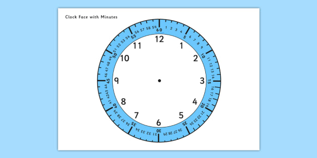 clock face with minutes - clock, time, clock face, minutes