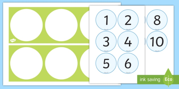 Zählen von 1 10 Zahlenstrahl - zählen, vorwärts, rückwärts