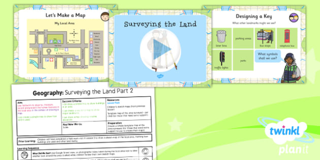 Geography: Land Use: Surveying the Land Part 2 Year 3 Lesson Pack 4