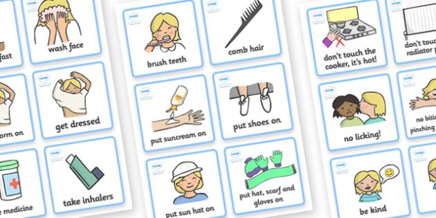 SEN Communication Cards Daily Routine (Girl) -  daily routine, education, home school, child development, children activities, free, kids