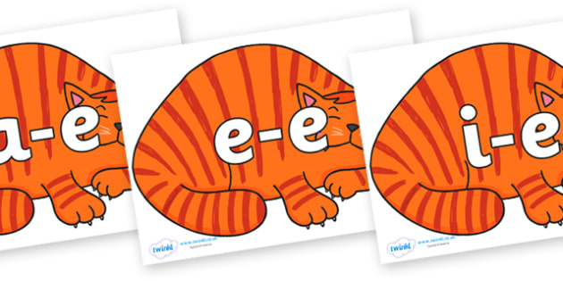 Modifying E Letters on Hullabaloo Cat to Support Teaching on Farmyard Hullabaloo - Modifying E, letters, modify, Phase 5, Phase five, alternative spellings for phonemes, DfES letters and Sounds