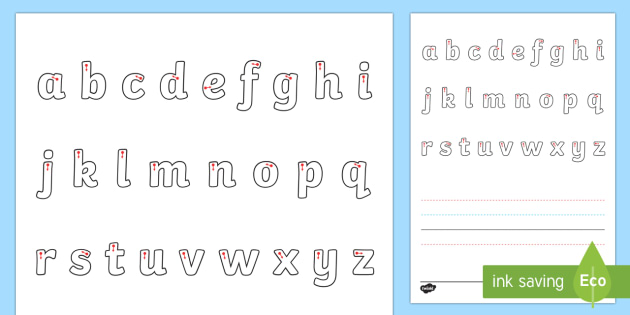 Line Guide with Letters (Portrait) - Line guide, Handwriting, Writing aid, Learning to write