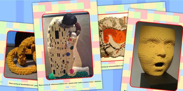 Building Bricks Art Display Photos - Building Bricks, toys, display, classroom display