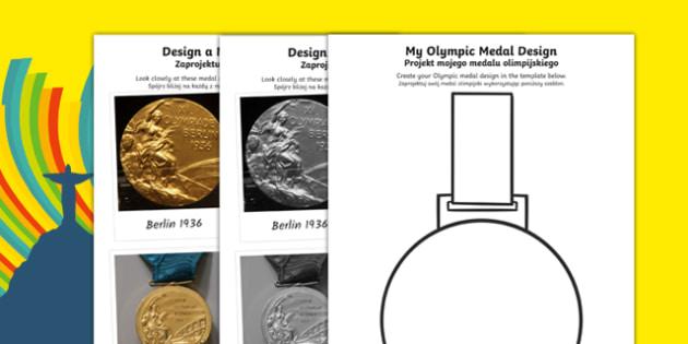 The Olympics New Medal Design Challenge Polish Translation - The Olympics, medal, design, gold, silver, bronze, art, Rio, 2016,Polish, olmypics, olumpics, oylmpics