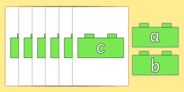 Phase 2 Phonemes on Building Bricks - phase 2, phonemes, building, bricks