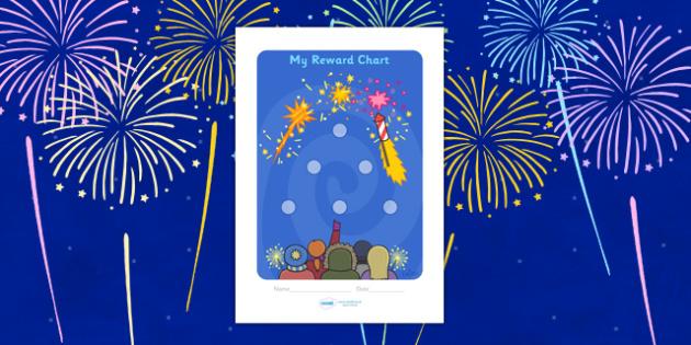 Bonfire Night Sticker Reward Chart (15mm) - Bonfire Night Sticker Reward Chart (15mm), Bonfire, reward chart, chart, reward, 15mm, 15 mm, stickers, twinkl stickers, award, certificate, well done, behaviour management, behaviour,  Bonfire, Fireworks N