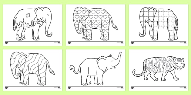 image regarding Elmer the Elephant Printable referred to as Colouring Sheets in the direction of Guidance Instruction upon Elmer - Elmer, Elmer