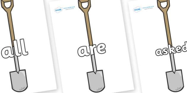 Tricky Words on Spades - Tricky words, DfES Letters and Sounds, Letters and sounds, display, words