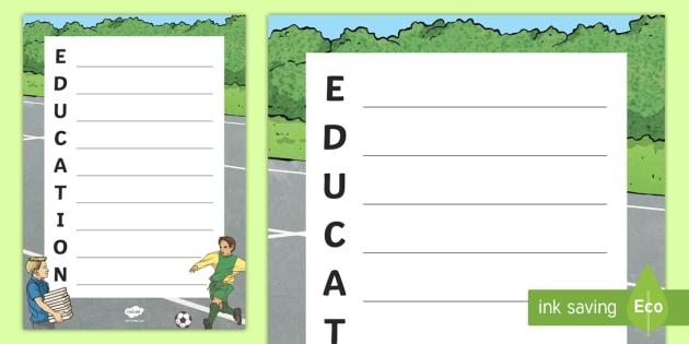 Education week acrostic poem worksheet activity sheet education week acrostic poem worksheet activity sheet worksheet education week literacy ibookread Download