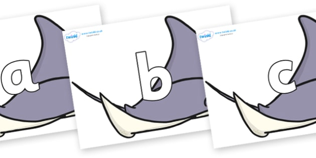 Phoneme Set on Manta Rays - Phoneme set, phonemes, phoneme, Letters and Sounds, DfES, display, Phase 1, Phase 2, Phase 3, Phase 5, Foundation, Literacy