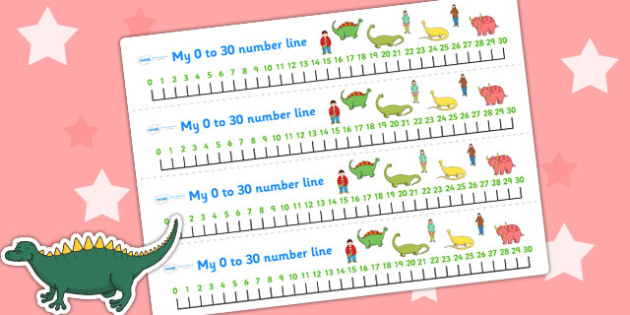 Number Lines 0-30 to Support Teaching on Harry and the Bucketful of Dinosaurs - numeracy