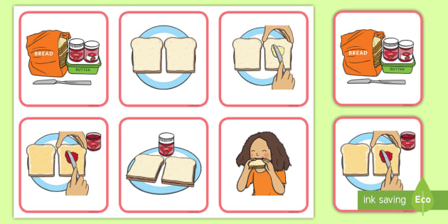 How to make a jam sandwich instructions ks2