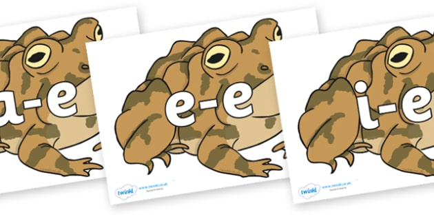 Modifying E Letters on Toad - Modifying E, letters, modify, Phase 5, Phase five, alternative spellings for phonemes, DfES letters and Sounds