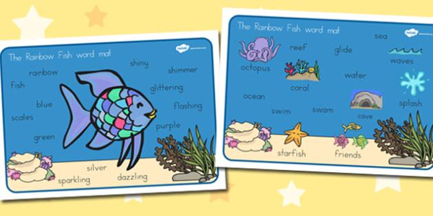 Word Mat Images to Support Teaching on The Rainbow Fish - australia, rainbow fish, word mat