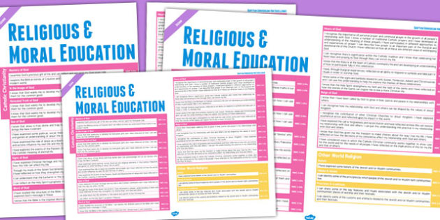Scottish Curriculum Excellence Overview Posters Second Religious