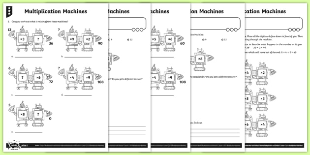 Multiplying Three Numbers Worksheet / Activity Sheets