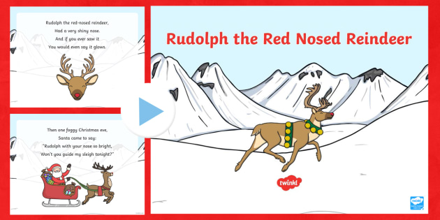 rudolph the red nosed reindeer song powerpoint rudolph the red nosed reindeer song - Christmas Songs Rudolph The Red Nosed Reindeer