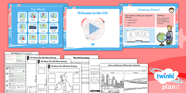 Geography: Our Country Unit: Welcome to the UK Year 1 Lesson Pack 2
