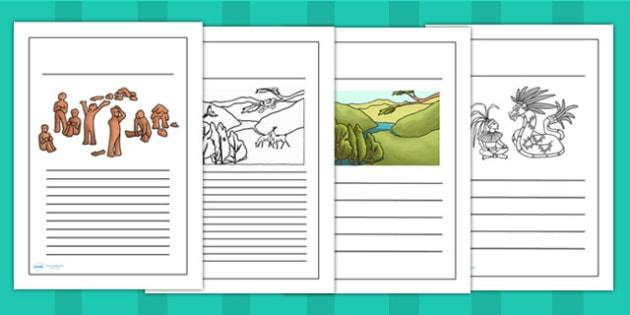 Mayan Civilization Creation Story Writing Frame - write, template