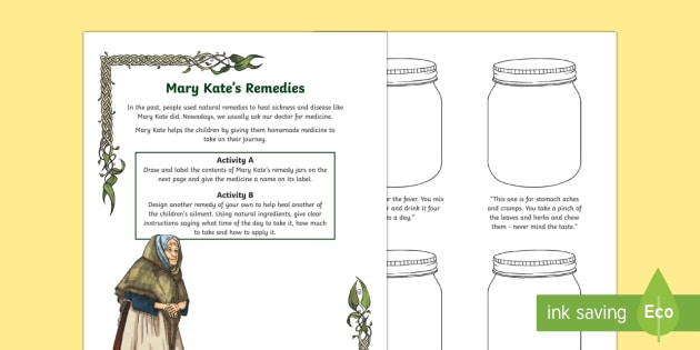 Under the Hawthorn Tree Mary Kate's Remedies Worksheet / Activity Sheet - Under the Hawthorn Tree, Famine, Marita Conlon McKenna, Reading Activity, Ireland, The Great Hunger,