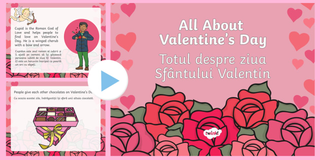 All About Valentines Day PowerPoint EnglishRomanian  All