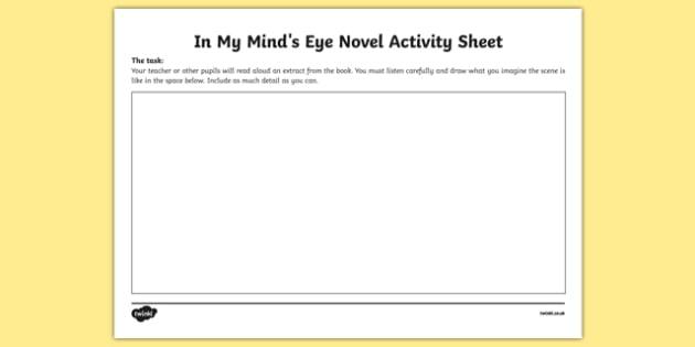 In My Mind's Eye Novel Activity Sheet-Irish, worksheet