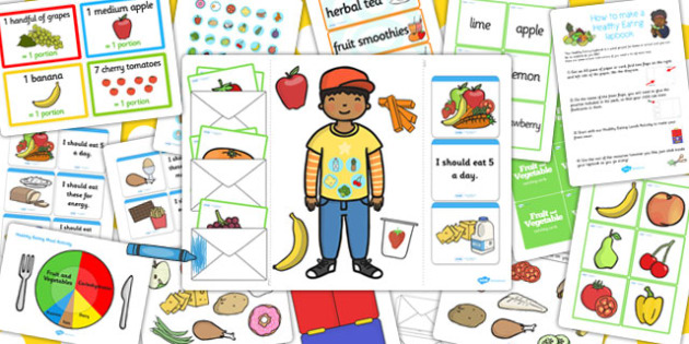 Healthy Eating Lapbook Creation Pack - lapbook, pack, healthy