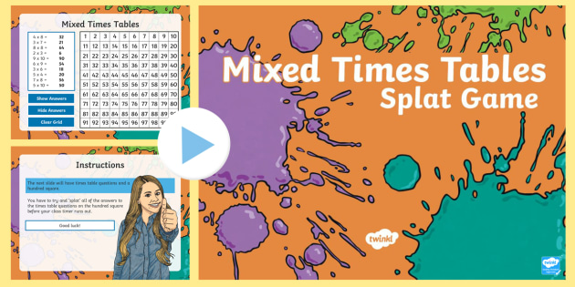 Cfe mixed times table interactive gaming powerpoint find the - Multiplication table interactive ...