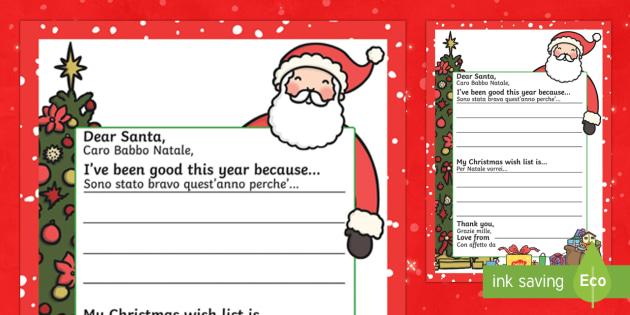 My christmas wish letter to santa englishitalian my christmas my christmas wish letter to santa englishitalian my christmas wish letter to santa spiritdancerdesigns Images