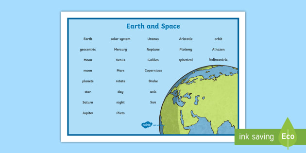 Earth and Space Word Mat - Earth and Space Word Mat - science, sceince, spce, soace, spcae, scince, Sience, scienec, scence, Ea