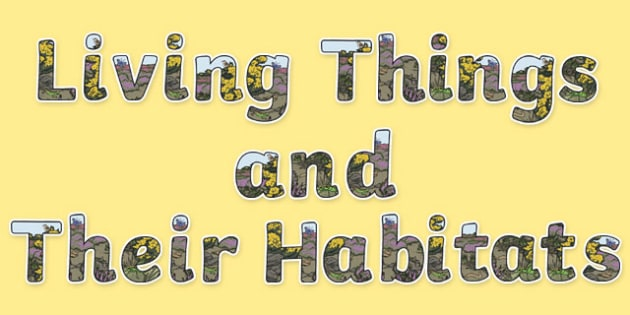 Living Things and their Habitats Display Lettering - Science lettering, Science display, Science display lettering, living things and their habitats, display lettering