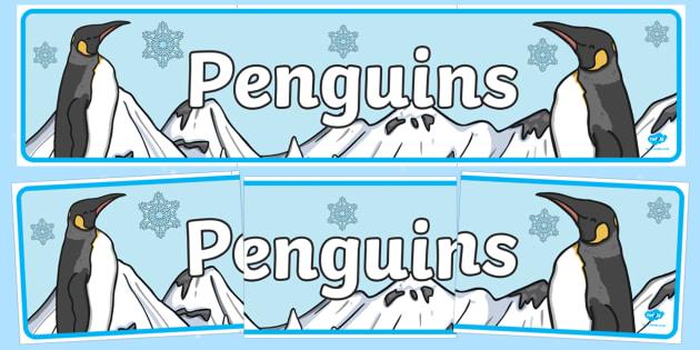 Penguins Display Banner