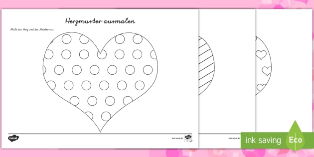 Valentinstagsherzen Mit Mustern Ausmalbilder Valentinstag Liebe Herz